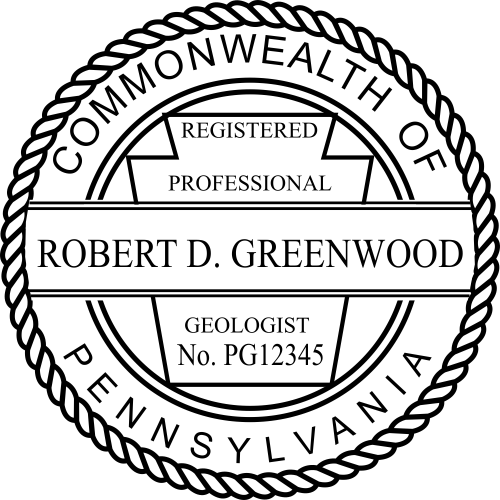 Pennsylvania Geologist Stamp Seal