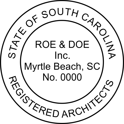 South Carolina Architectural Firm Stamp