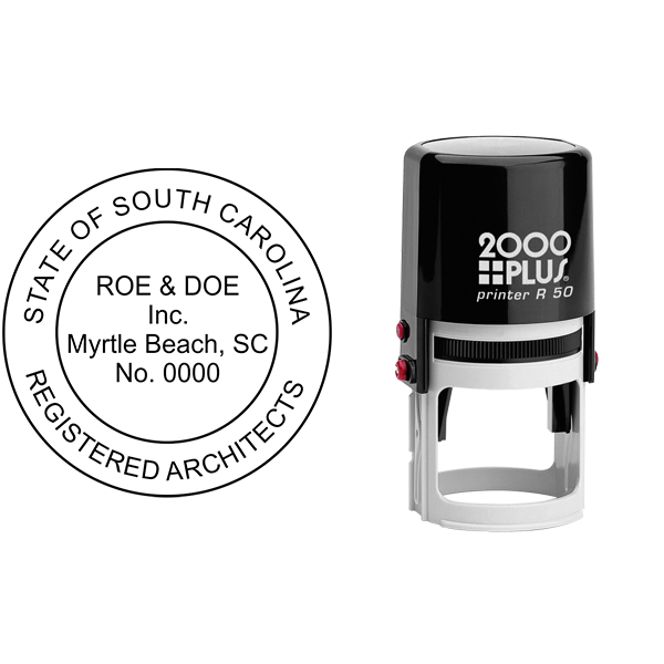 State of South Carolina Architectural Firm Seal Body and Imprint
