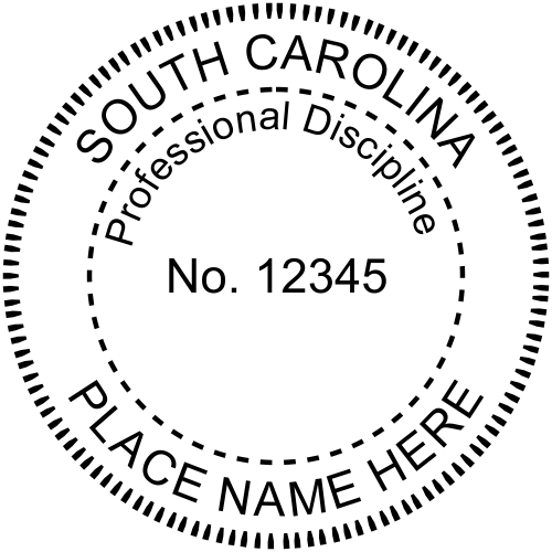 State of South Carolina Engineers Seal (Various Discipline)