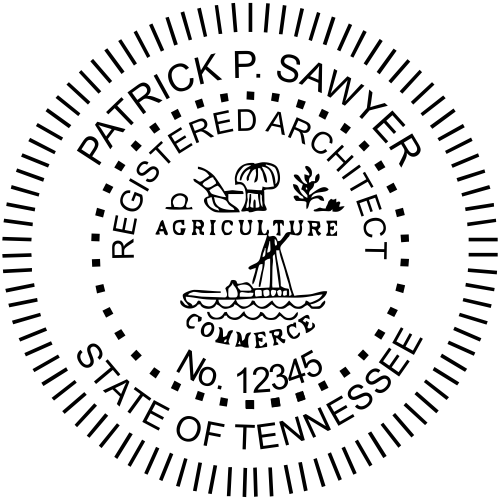 Tennessee Architect Stamp Seal