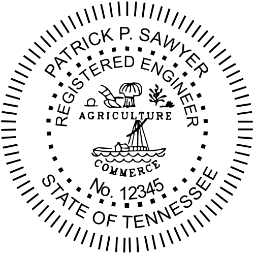 Tennessee Engineer Stamp Seal