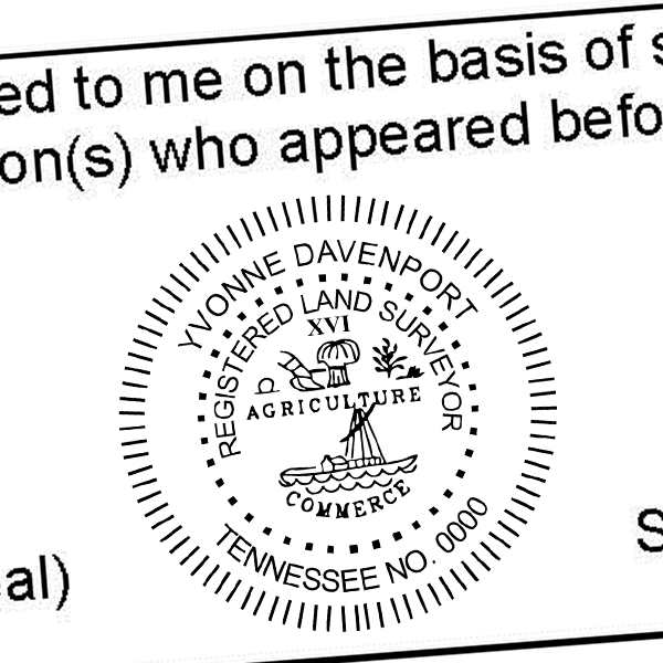 State of Tennessee Land Surveyor Seal Imprint