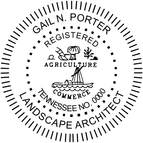 Tennessee Landscape Architect Stamp Seal