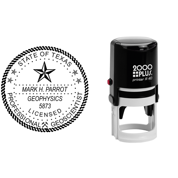 State of Texas Geoscientist Seal Body and Imprint