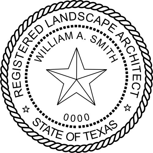 Texas Stamp Landscape Architect Seal Simply Stamps