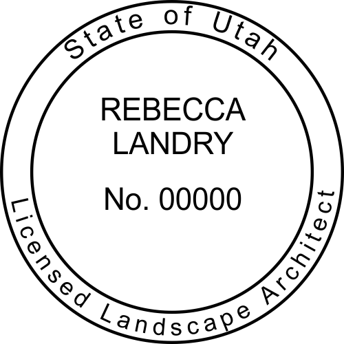 Utah Landscape Architect Stamp Seal