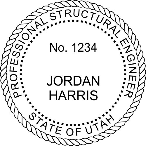 Utah Structural Engineer Stamp Seal
