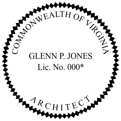 Virginia Architect Stamp Seal