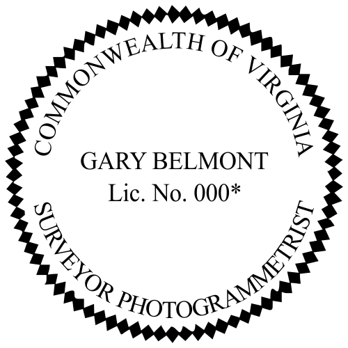 Virginia Survey Photogrammetrist Stamp Seal
