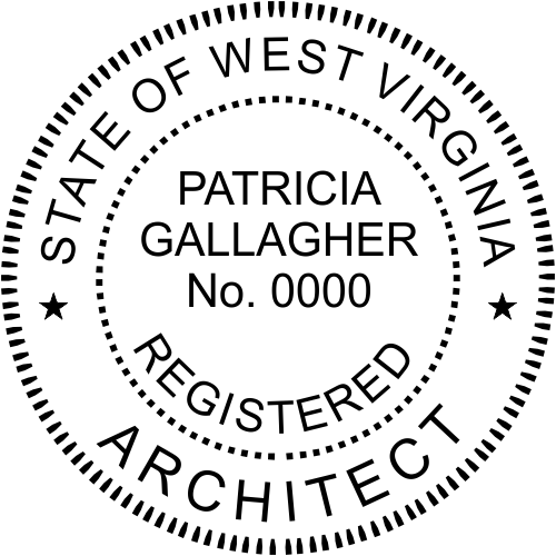 West Virginia Architect Stamp Seal