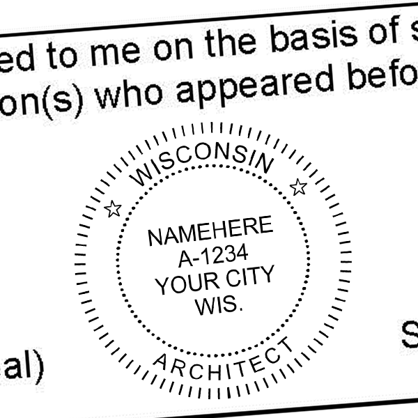 State of Wisconsin Architect Seal Imprint