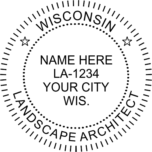 Wisconsin Landscape Architect Stamp Seal