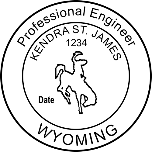 State of Wyoming Engineer Seal