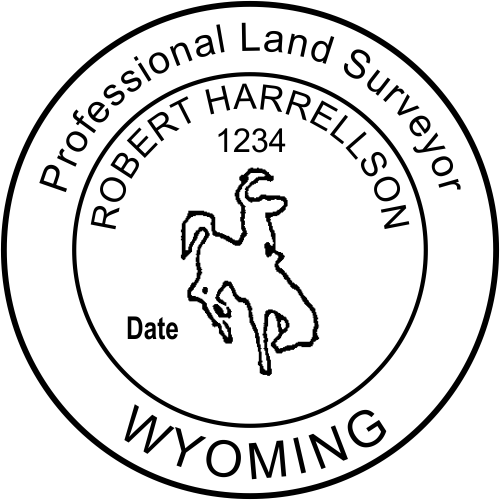 Wyoming Land Surveyor Stamp Seal