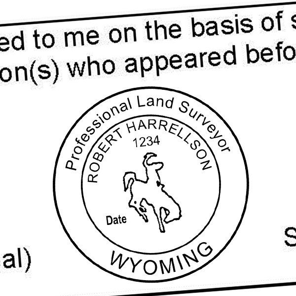 State of Wyoming Land Surveyor Seal Imprint