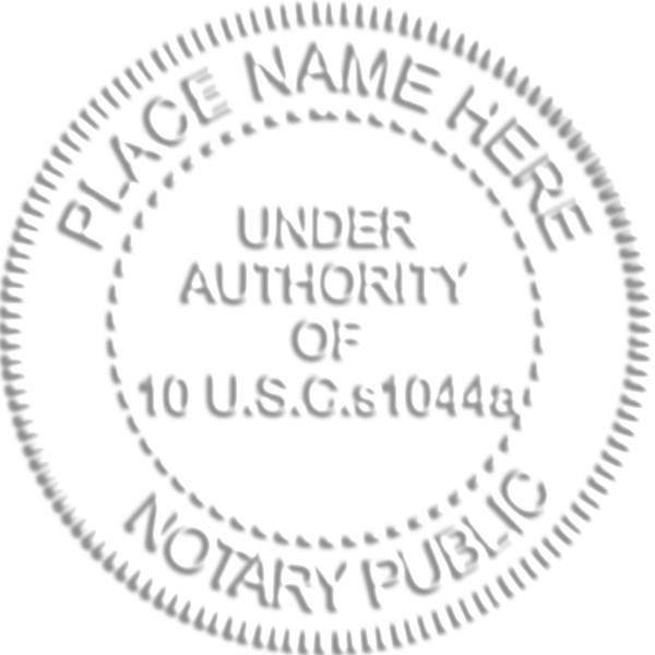 US Military Notary Seal Tap On The Above Image For More Views