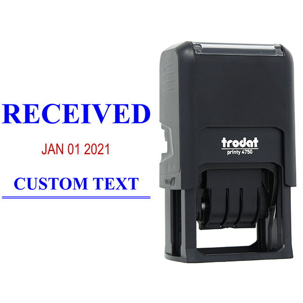 Received News Font Dater Stamp Body and Design