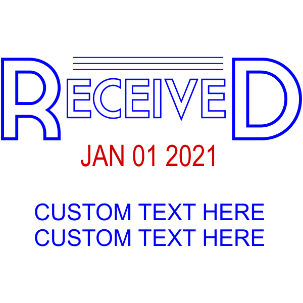 Received Outline Custom Text Dater Stamp