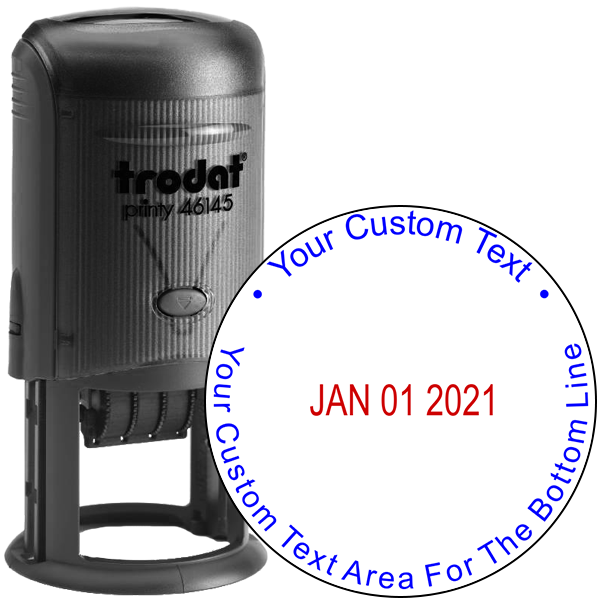 Custom Text Round Dater Stamp