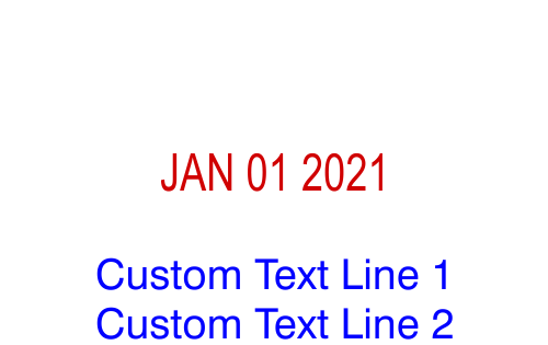 Custom Text Dater stamp