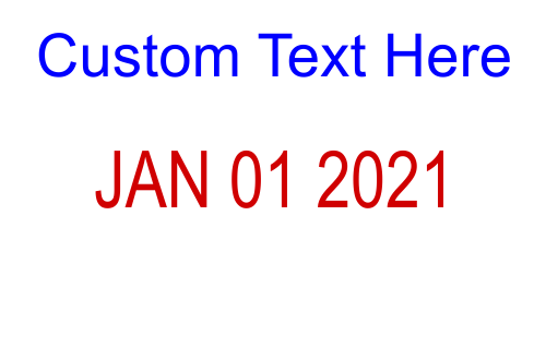 Custom Text Dater stamp - one line