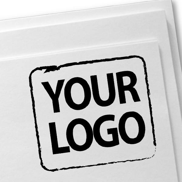 XL Custom Logo Stamp Imprint Example