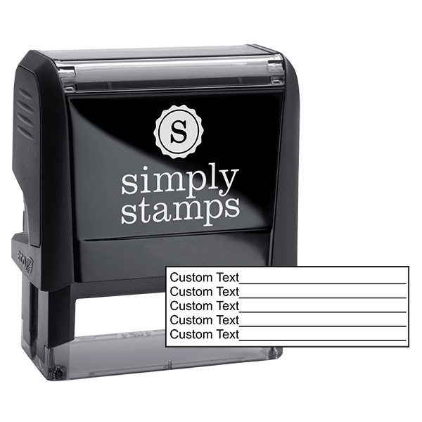 5 Line Form Custom Rubber Stamp