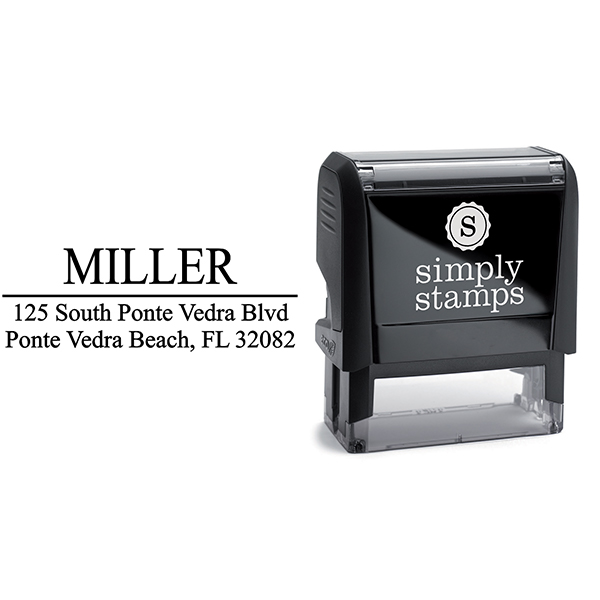 Last Name Address Stamp with self inking stamp model body