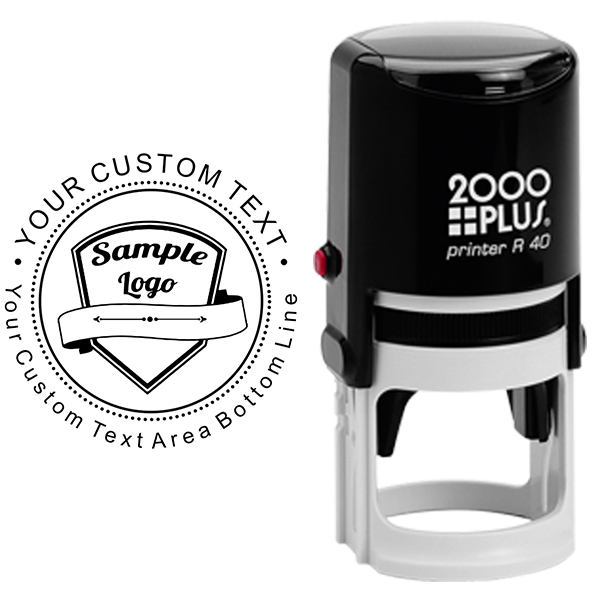 Custom Rubber Logo Stamp - Double Lines Body and Design