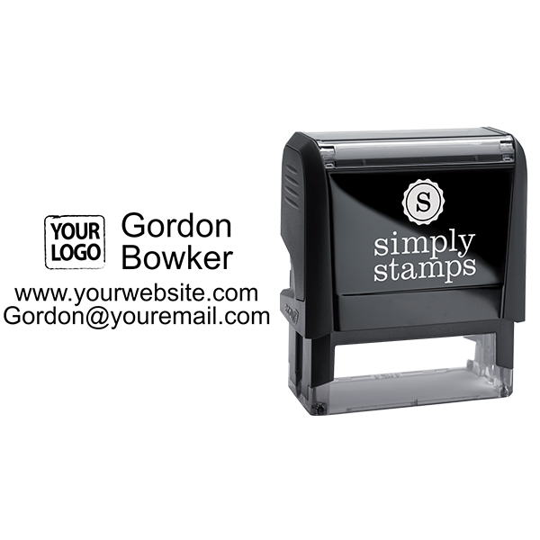 Self-Inking Logo Stamp with Contact Information - Stamp Body and Design
