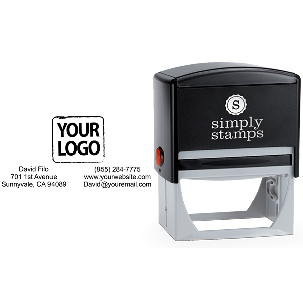Rectangle Logo Stamp with Contact Information - Stamp Body and Design