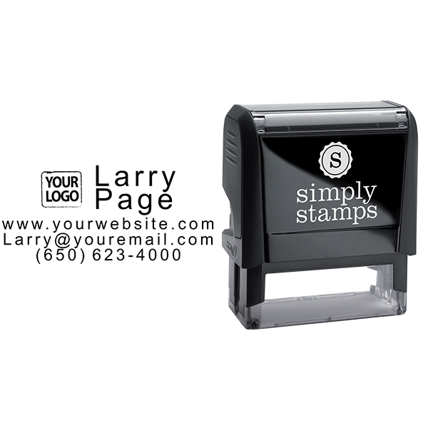 Contact Information Stamp with Logo - Stamp Body and Design
