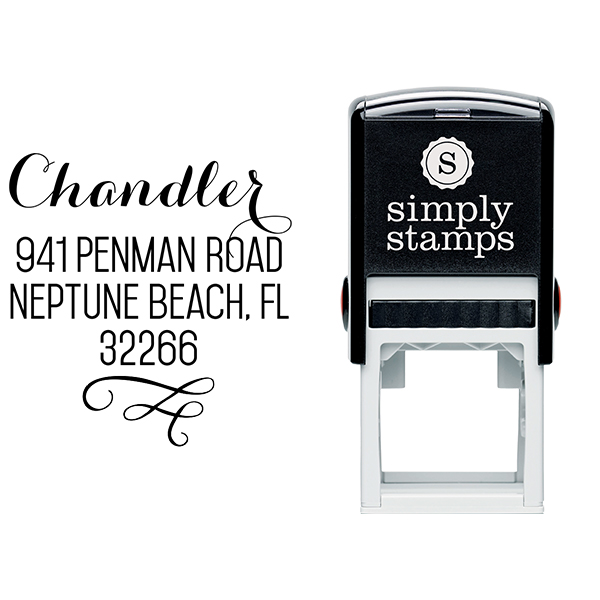 Chandler Swash Address Stamp Body and Design