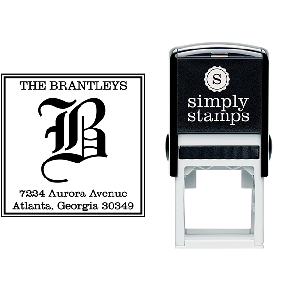 Square Letter Address Stamp Body and Design