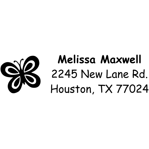 Single Cute Butterfly Address Stamp