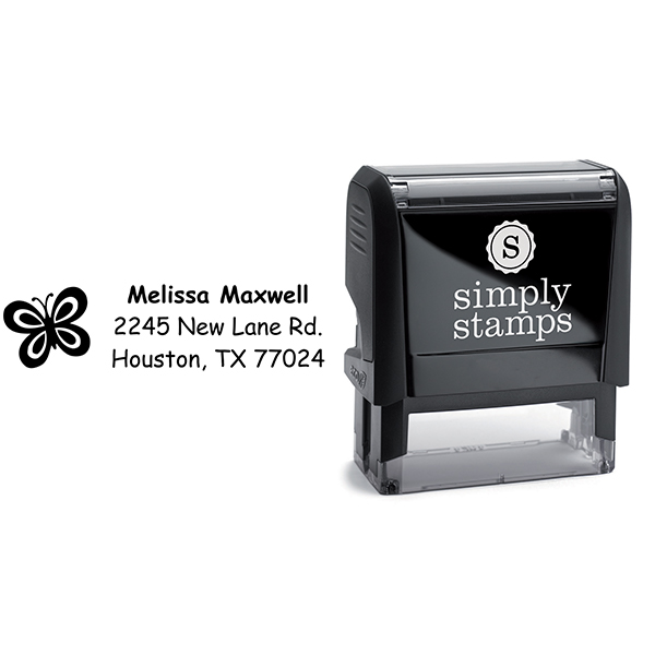 Butterfly Address Stamp Body and Design