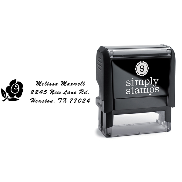 Rose Bud Address Stamp Body and Design