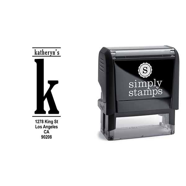 Vertical Lowercase Address Stamp Body and Design