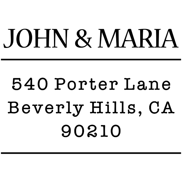 Simple Double Line address stamp design