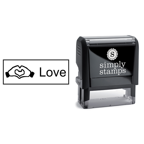 Hand Heart Love Stamp Body and Design Body and Design