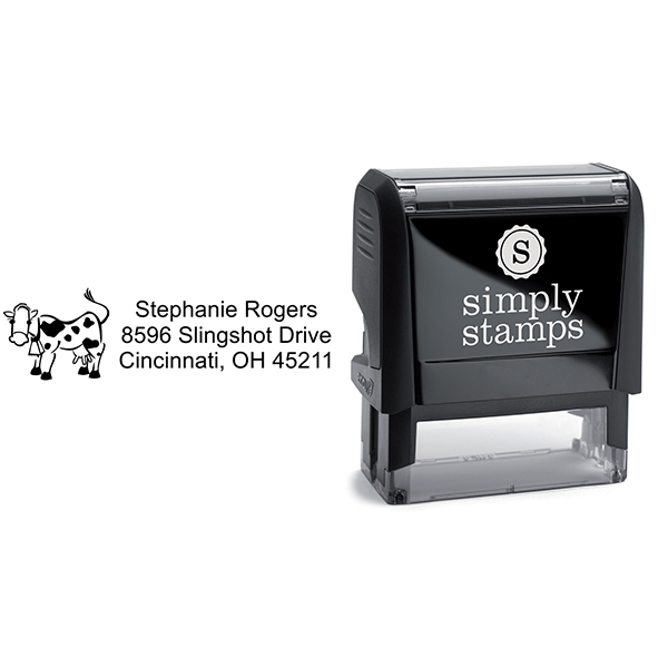Cow Address Stamp Body and Design