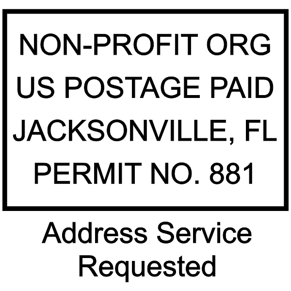Non-Profit Postage Paid Stamp   Address Service Request Imprint Example