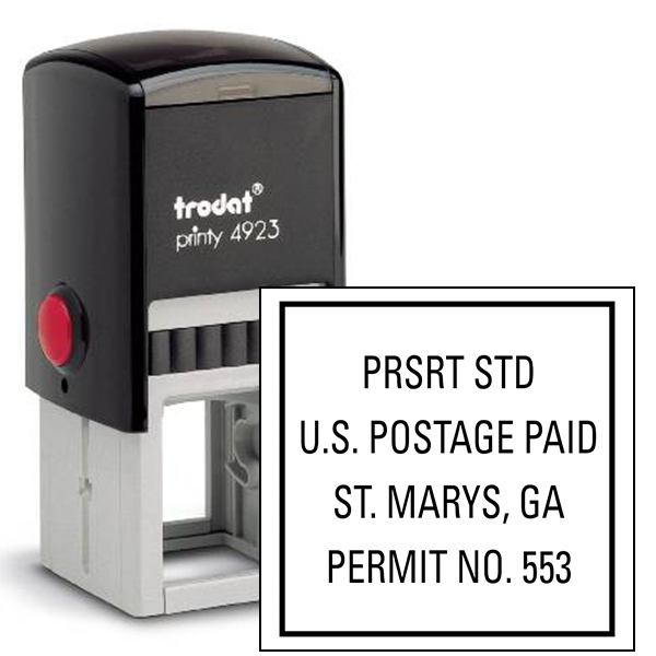 Pre-Sorted Postage Paid Permit Stamp