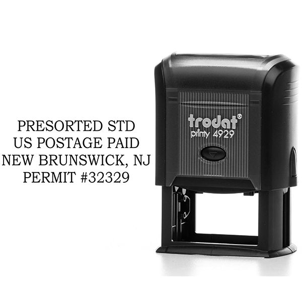 Standard Presorted Mail Postage Paid Permit Stamp Body and Design