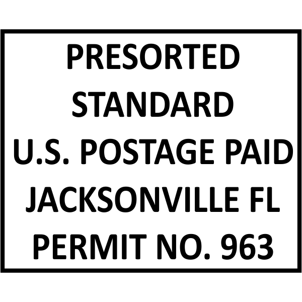 Postage Paid Permit   Presorted Standard Rubber Stamp