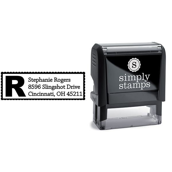 Bold Letter Address Stamp Body and Design