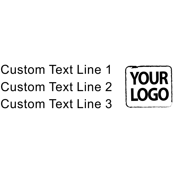 Custom Rubber Stamp - Logo with 3 Lines