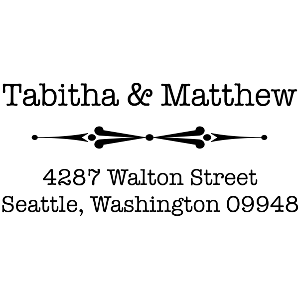 Walton Point Line Address Stamp