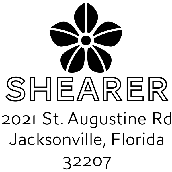 Manning Flower Square Address Stamp